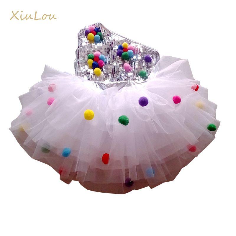 Costume de scène de danse pour enfants pour filles moderne enfants costumes de danse de jazz vêtements de paillettes pour salsa robe de danse contemporaine filles