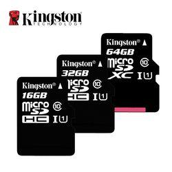 Kingston микро Флэшка TF карты памяти 16 Гб, 32 ГБ, 64 ГБ и 128 ГБ 256 GB Class 10 80 МБ/с. C10 UHS-I Mini SD карты 8 GB SDHC SDXC для смартфонов