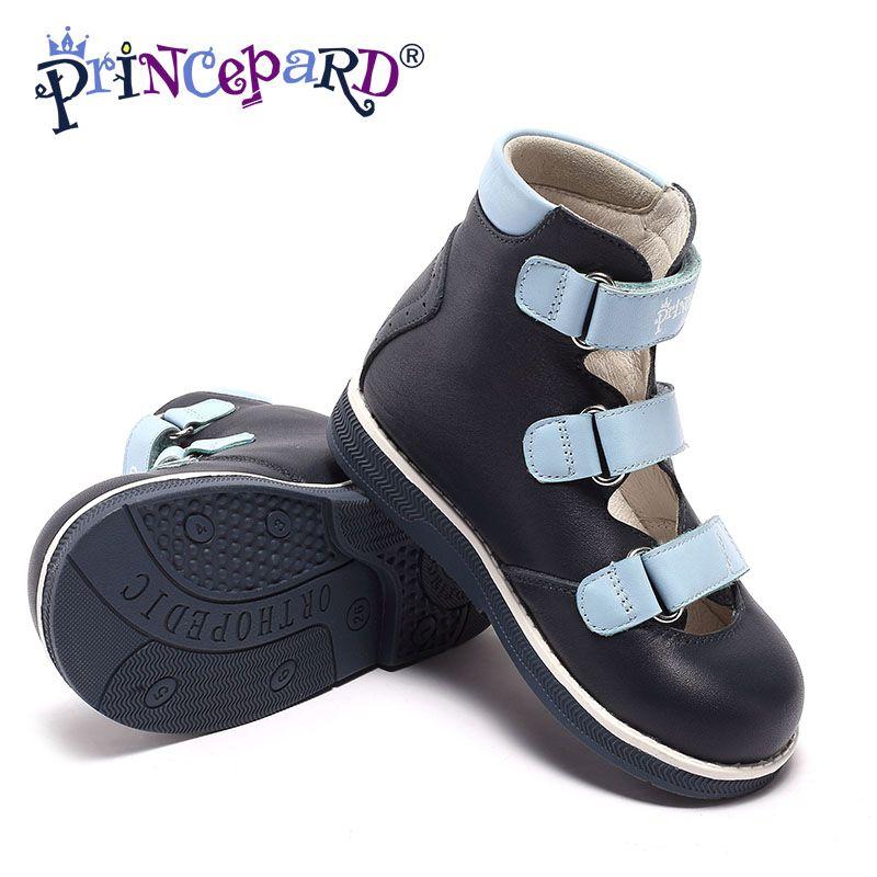 Princepard Kinder Kleinkind Jungen Doppel Verstellbaren Riemen Geschlossen-Kappe Orthopädische Sandalen orthopädische schuhe für jungen baby kinder sandalen