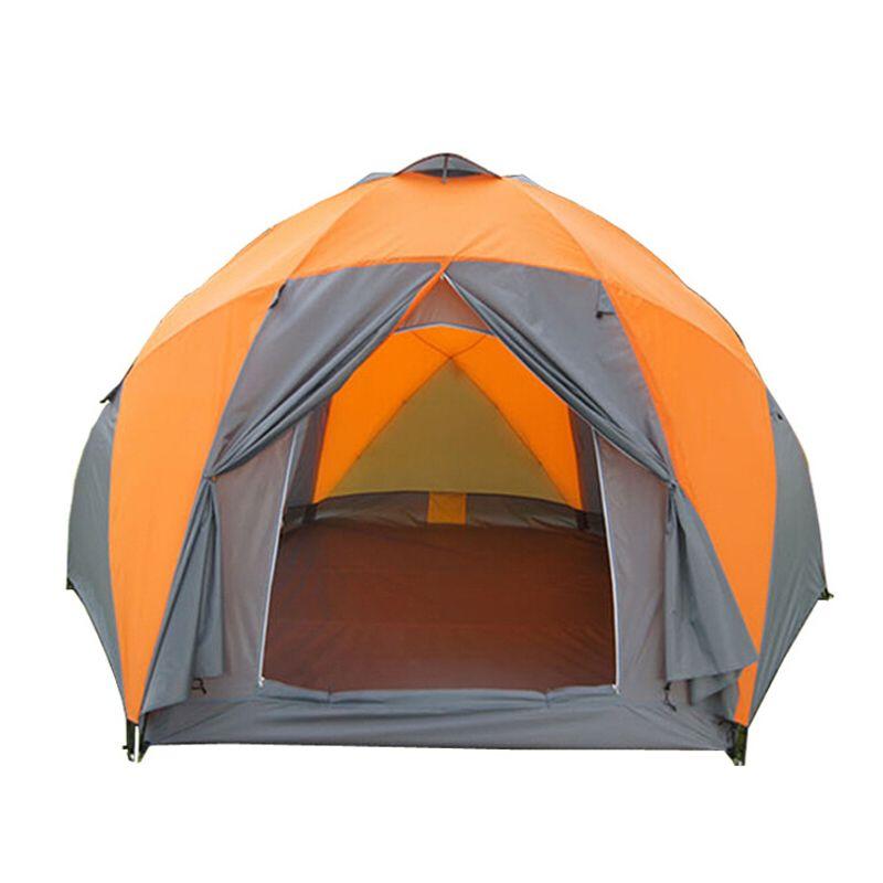 Tentes touristiques loisirs résistant aux intempéries grande tente de Camping pour les vacances en famille 8-10 personnes plage partie double couche Double couche yourte