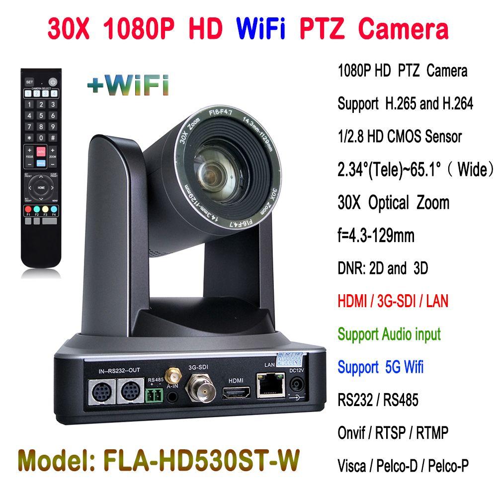 30x Optischer zoom HDMI 3G-SDI Video Konferenz HD Drahtlose PTZ IP Kamera für Web Conferencing system China lieferant