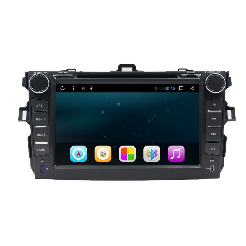 8 inch 2 din Android 7.1 car dvd player for Toyota Corolla 2007 2008 2009 2010 2011 Quad Core 8 inch 1024*600 screen car stereo