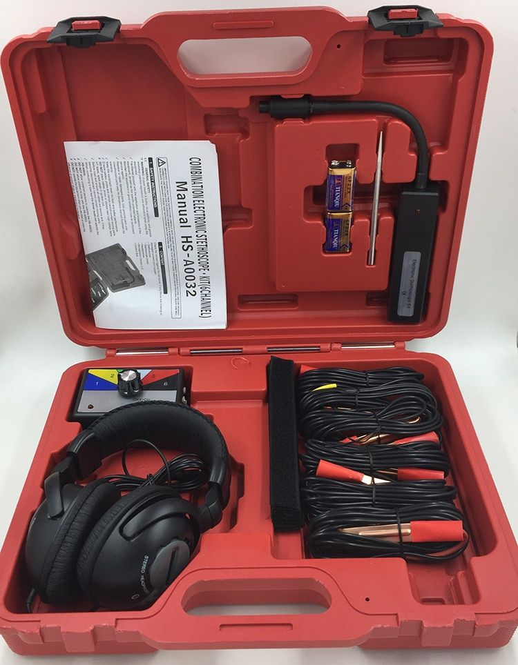 Combination Electronic Stethoscope Kit (6 channel)