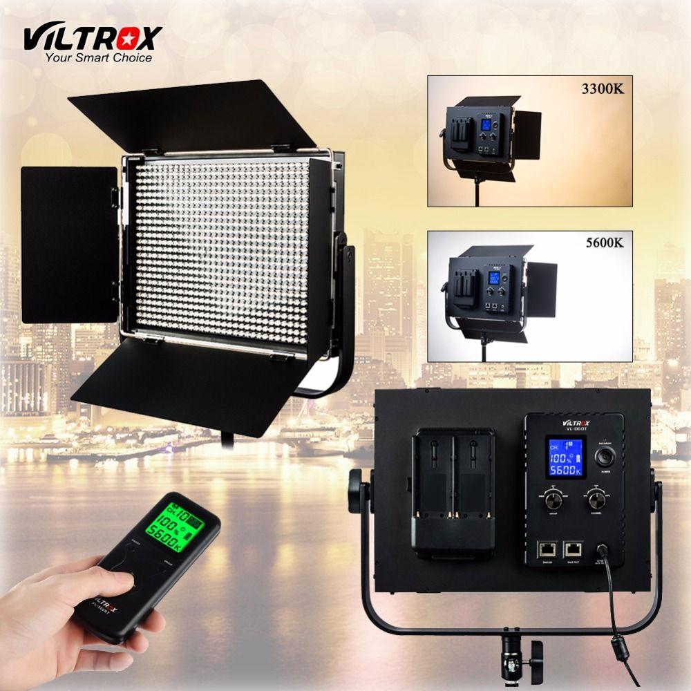 Viltrox VL-D60T LED Video Light 60W Slim Bicolor Dimmable LCD 3300K-5600K for Studio Camera Camcorder& Wireless remote control
