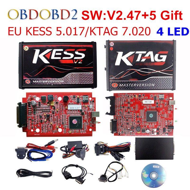 Master Online V2.47 EU KESS V5.017 KESS V2 5.017 No Token KTAG V7.020 OBD2 Manager Tuning Kit K-TAG 7.020 V2.23 ECU Programmer