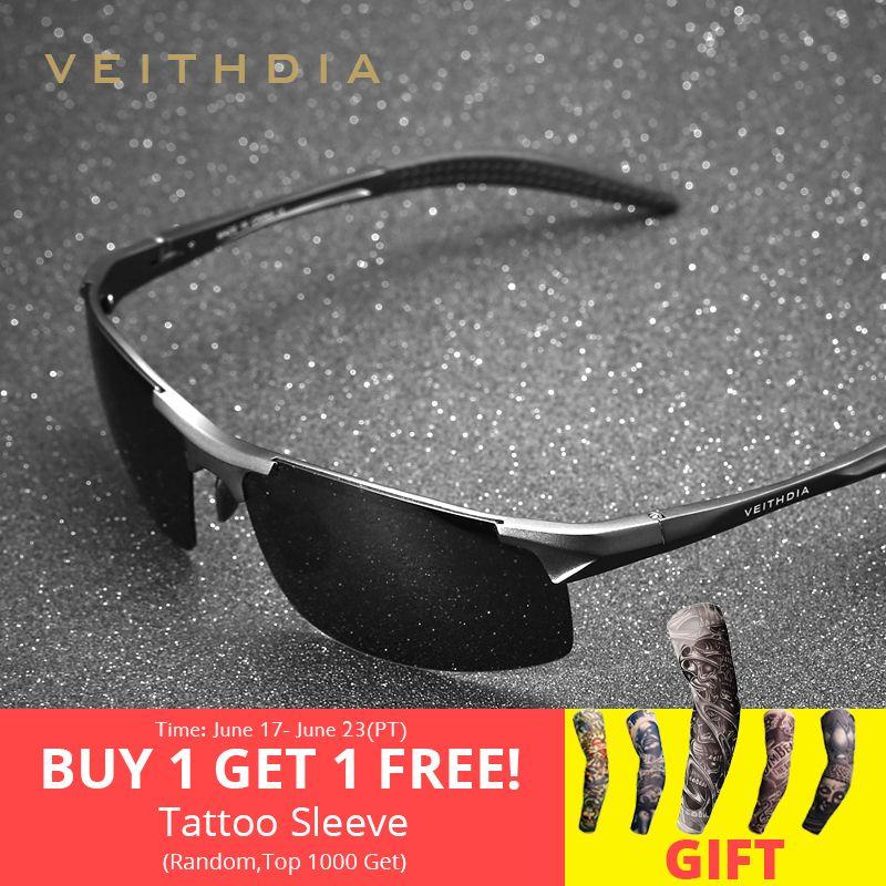 VEITHDIA marque Designer aluminium hommes lunettes de soleil polarisées lunettes de soleil accessoires lunettes pour hommes oculos de sol masculino 6518