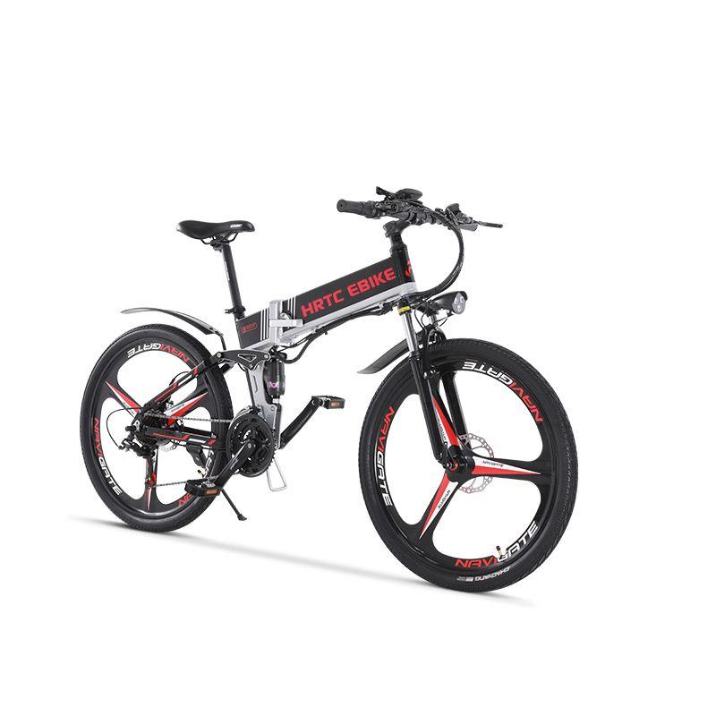 26 zoll elektrische mountainbike 400w ebike 400W hohe geschwindigkeit 40 km/h falten elektrische fahrrad 48v lithium- batterie versteckte in rahmen EMTB