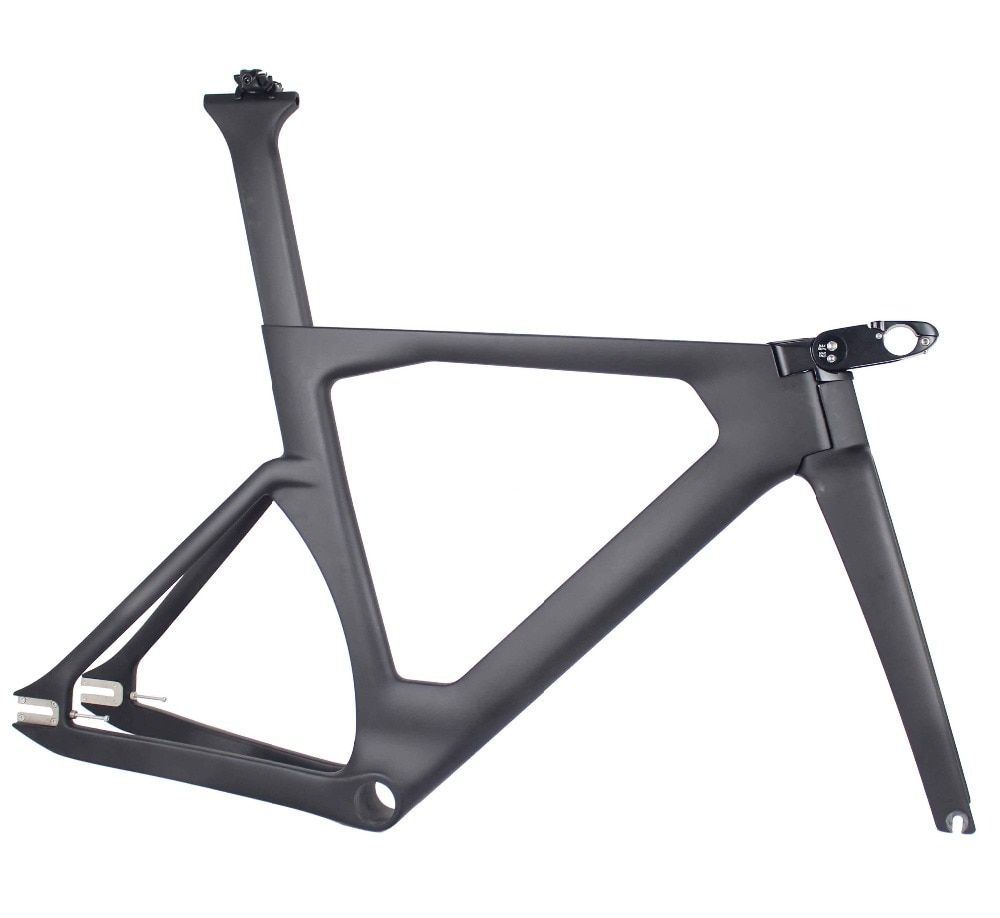 MIRACLE 2019 Aero Track bicycle Carbon frame new Carbon Track Frame UD weave 700c Track bike frame/fork/seatpost/stem