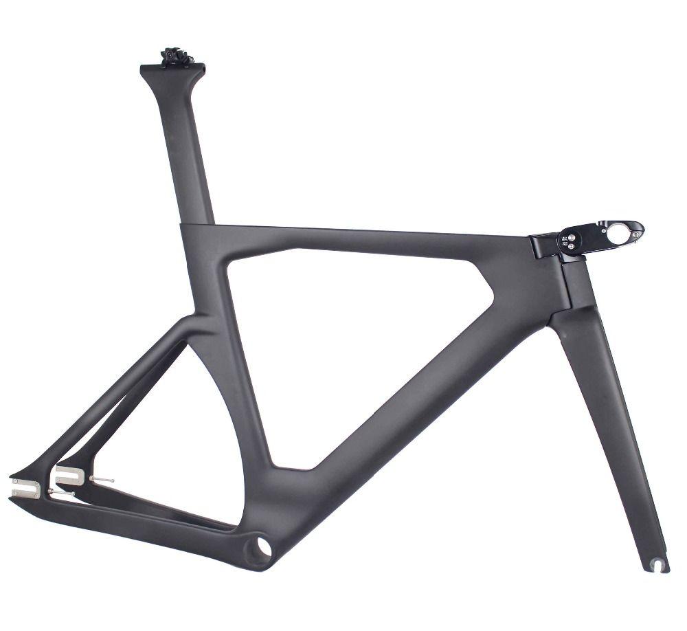 WUNDER 2019 Aero Track fahrrad Carbon rahmen neue Carbon Track Rahmen UD weben 700c Track bike rahmen/gabel/ sattelstütze/stem