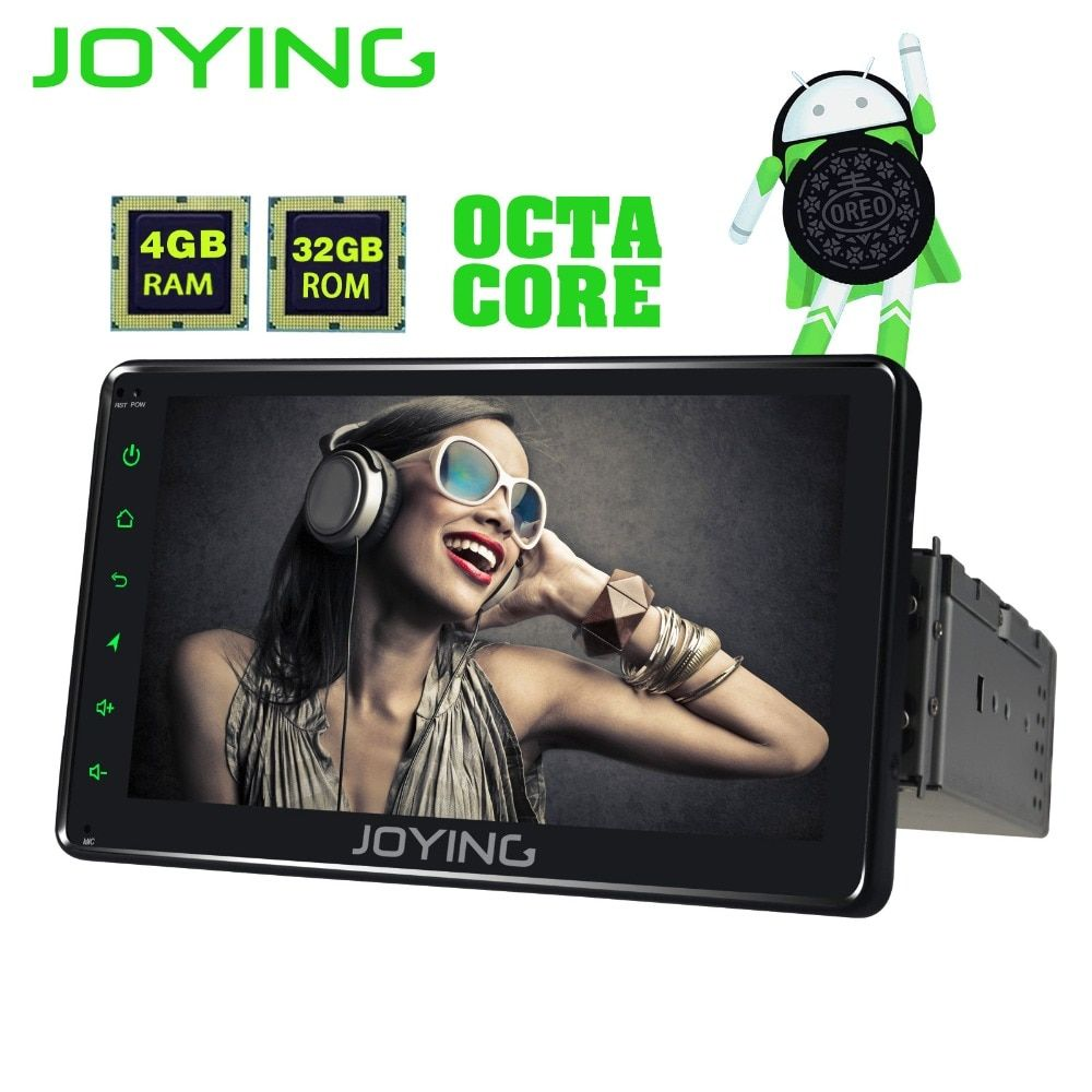 JOYING 1 din 7 inch 4GB RAM 32GB ROM Octa core Android 8.0 car radio stereo GPS HD head unit autoradio recorder support carplay