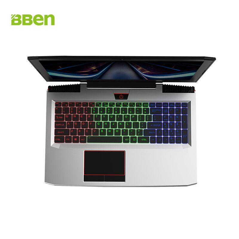 BBEN G16 15.6 ''Ordinateur Portable NVIDIA GTX1060 6G Intel i7 7700HQ Windows 10 16 GB RAM + 256G SSD + 1 T HDD RGB Clavier Rétro-Éclairé IPS écran