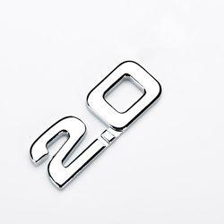 Seksi 1 PC Stiker Mobil 3D ABS 2.0 3.0 Emblem Mobil Gaya Stiker Stiker untuk Renault Toyota BMW ford Focus 2 Mobil Stiker Lucu