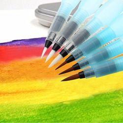 6 PCS S/M/L Aquarelle Brosse stylo Art Marqueurs Réservoir D'eau Calligraphie Dessin Stylo Débutant cadeau