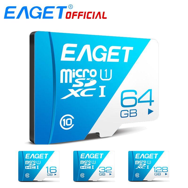 EAGET T1 Micro SD Karte Class10 128 gb Speicher Karte 32 gb 16 gb Micro SDXC TF Karte 64 gb hohe Geschwindigkeit UHS-I Flash für Handys Tablet