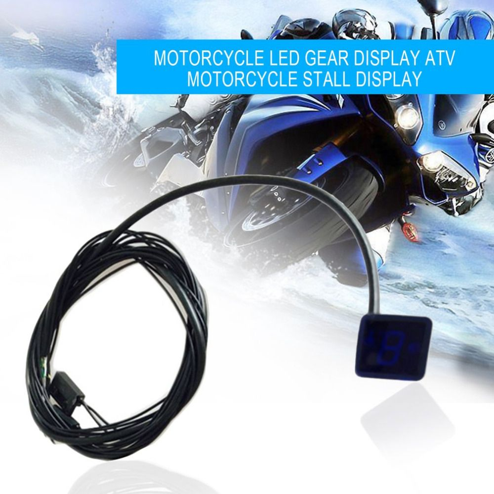 Newest Universal Waterproof Motorcycle ATV Vehicles Digital Gear Indicator LED Display Monitor Shift Lever Sensor Motorbike Tool