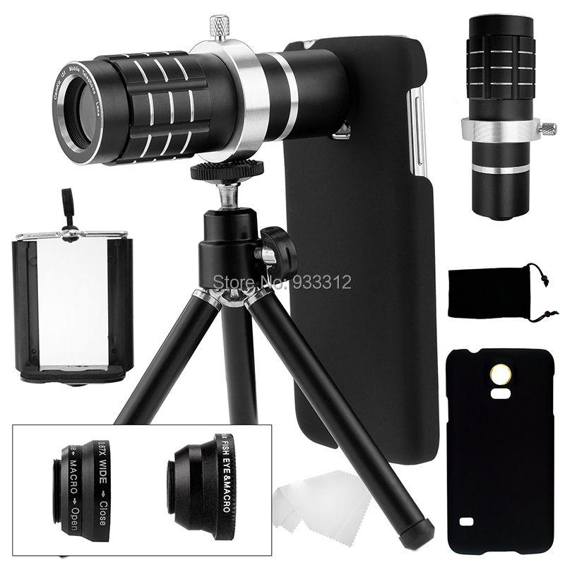 9 Pièce Caméra Photo Kits: 12X Optique Télescope + Trois Génial Lentilles + Mini Trépied Pour Samsung Galaxy S8 S6 S7 Bord Plus/S5 i9600