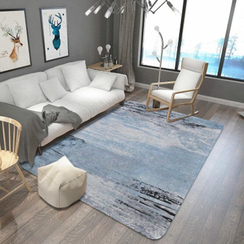 Abstract style carpet Non-slip Floor Rug Door Mat super soft living room Decorative Mats/Carpet Multi-sized blue large Area Rugs