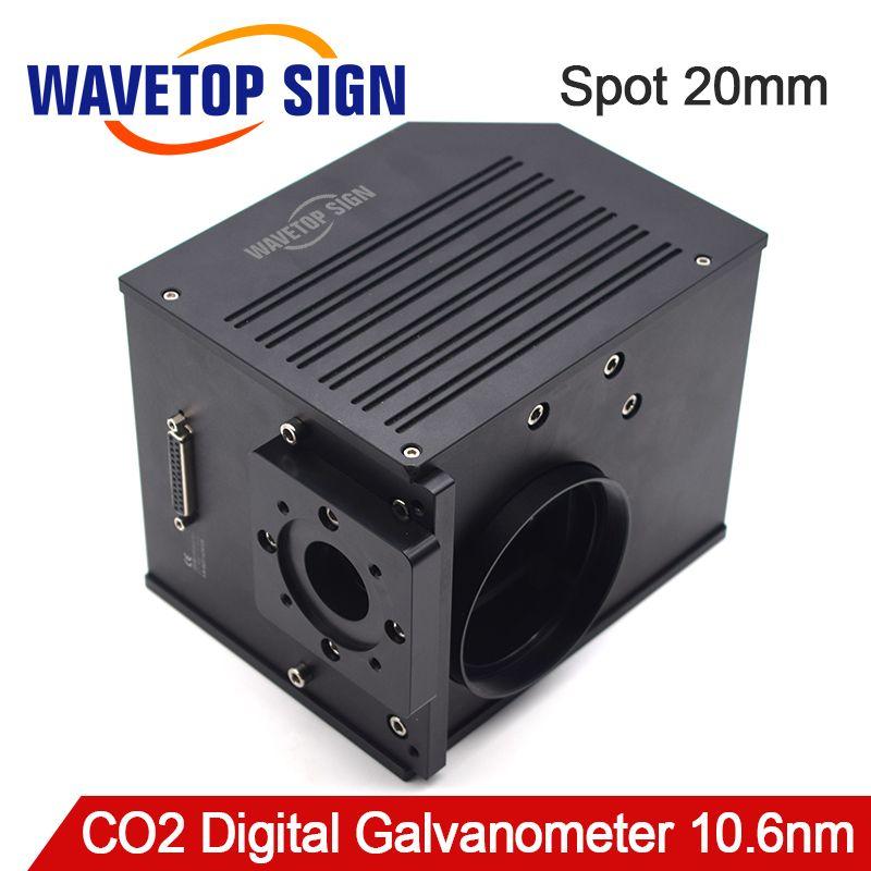 10.6um CO2 Laser Scannen Galvanometer Scannen Blende 20mm Galvanometer Scanner + DC24V Netzteil für Laser Maschine