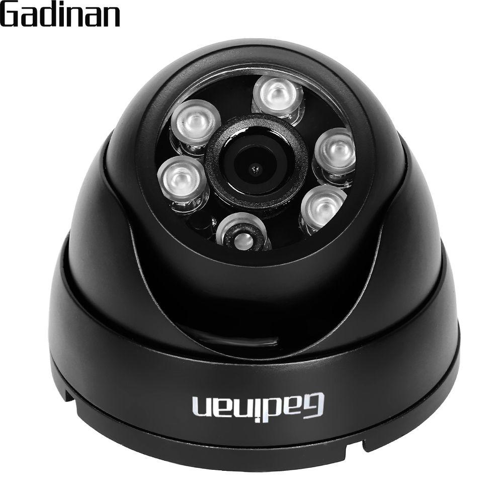 GADINAN 1080P Full HD VandalProof Anti-Vandal H.265 2.0MP Indoor Outdoor P2P Onvif Metal CCTV Mini Dome IP Camera Motion Detect