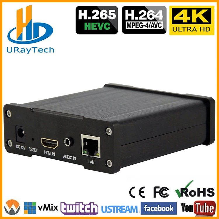 Beste H.265 H.264 4 K UHD HDMI Video Encoder Für Live-Stream Broadcast Unterstützung HTTP RTSP RTMP UDP RTP Für live-Stream Broadcast