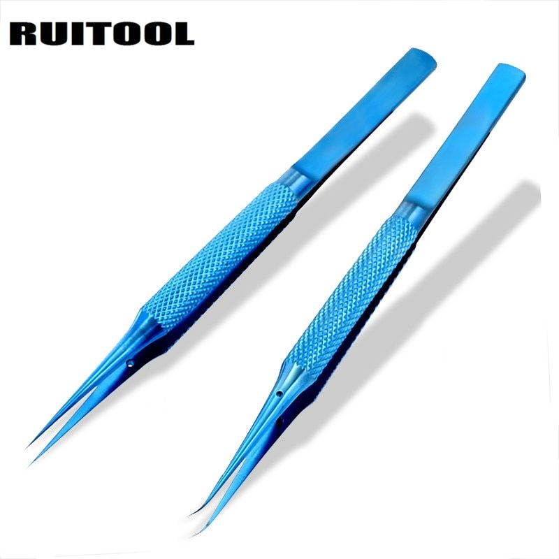 1pc tweezers electronic Titanium Alloy 0.15mm Tip Precision Tweezer Thicken For Electronic Repair Fly Line Phone Motherboard