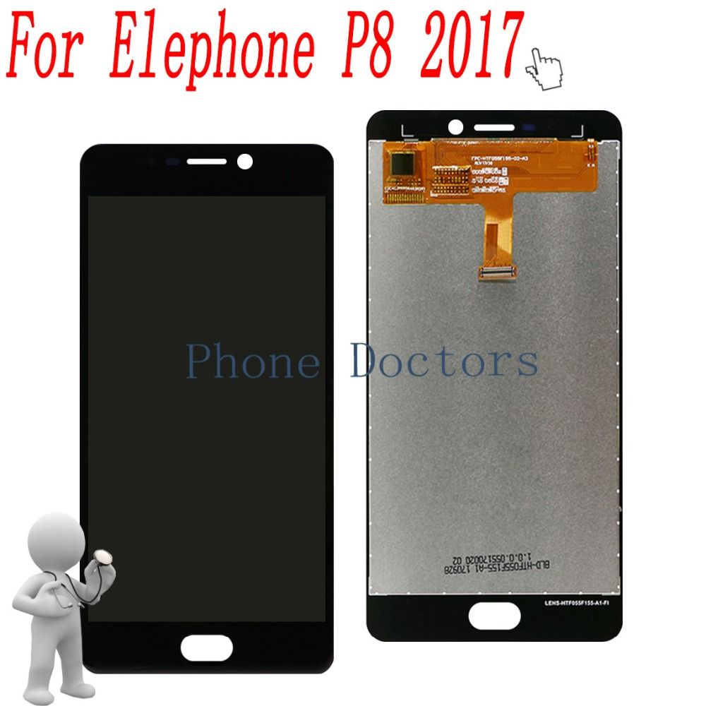 5.5'' Touch Screen Digitizer Glass + LCD Display Assembly For Elephone P8 2017 P05-ELEP8 ; New ; Black 100% Tested ; Tracking