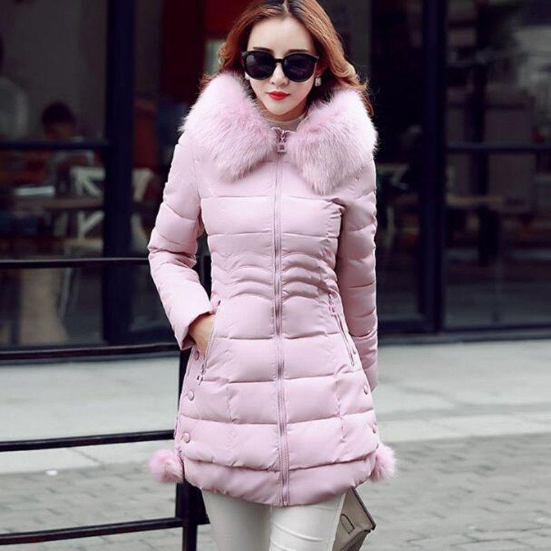Xmy3dwx Для женщин утолщение зимой с капюшоном длинный пуховик/Для женщин Slim Fit тяжелые волосы воротник хлопка-проложенный одежды пальто XXXL