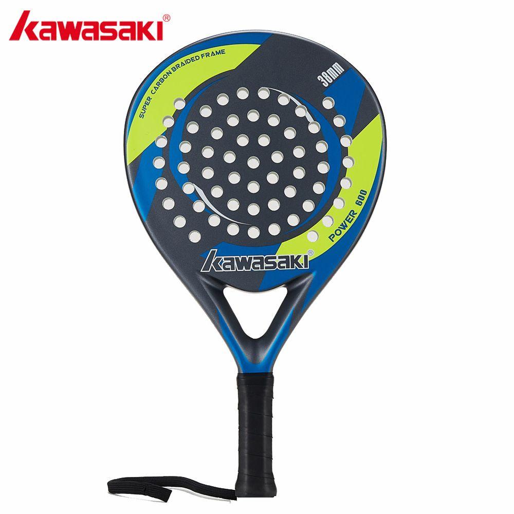 Kawasaki POWER 600 Padel 38mm Tennis Padell Schläger für Junior Player Carbonrahmen Weiche EVA Gesicht mit Paddel tasche