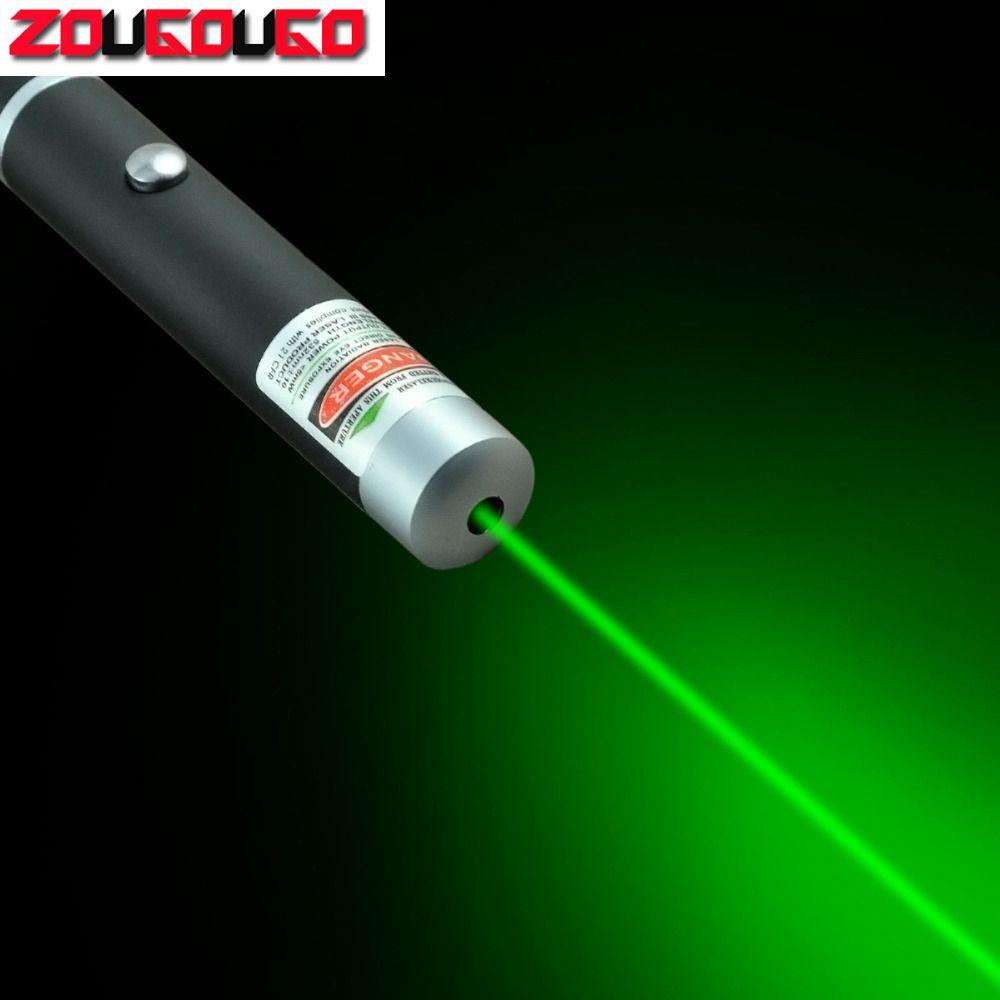Hohe Qualität Leistungsstarke Grün/Rot/Blau Laserpointer Beam Licht 5 mW Caneta Laser