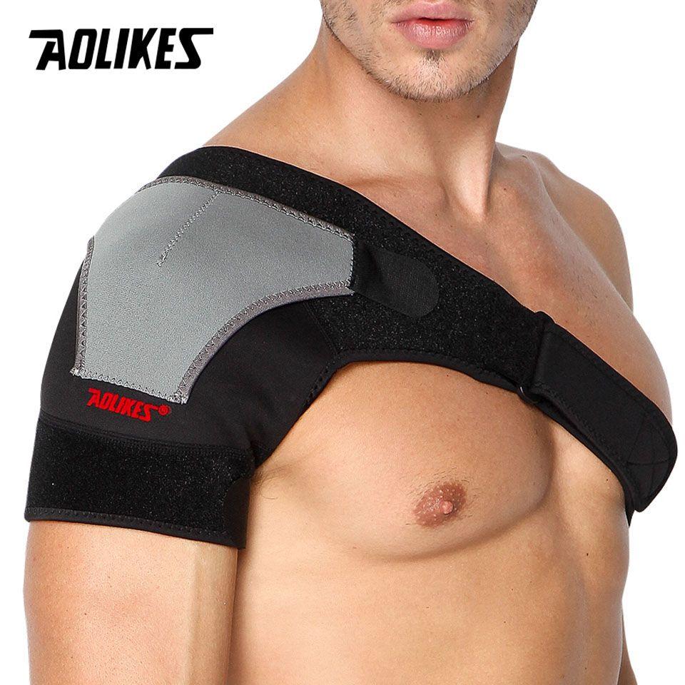 AOLIKES 1PCS Back Support Adjustable Bandage Protector Reinforced Functional-training-equipment Single Shoulder Strap