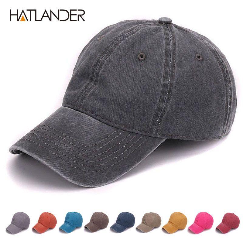 HATLANDER plaine teinte sable lavé 100% doux coton casquette blanc casquettes de baseball papa chapeau pas de broderie hommes casquette chapeau pour hommes et femmes