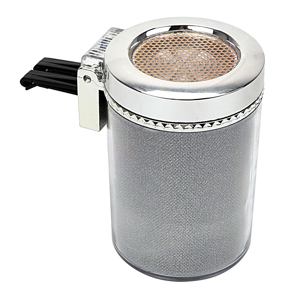 Smoke Ash Cylinder Storage Cup Interior Accessories Cigar Ash Tray Garbage Container LED Car Ashtray Portable Car Styling