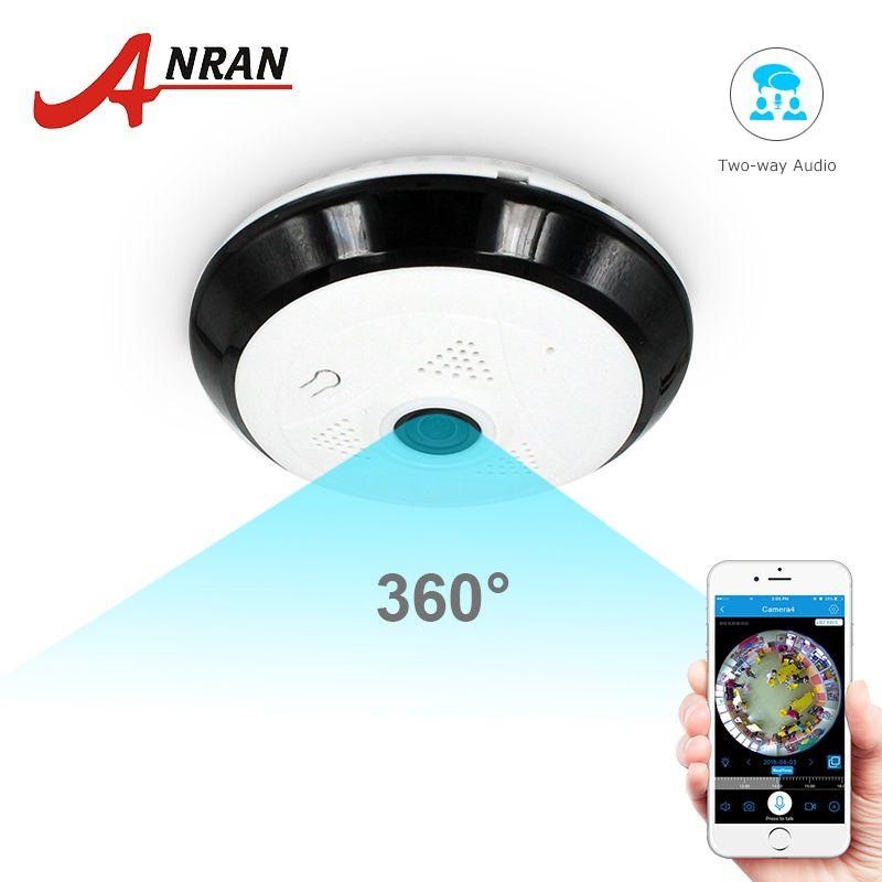 ANRAN 960 P Wifi caméra 360 degrés caméra panoramique sécurité à domicile deux voies Audio Vision nocturne Fisheye caméra de Surveillance