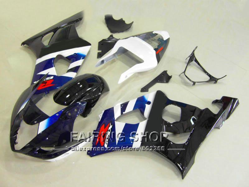 Hohe qualität spritzguss verkleidung kit für Suzuki GSXR1000 2003 2004 schwarz weiß karosserie verkleidung-set GSXR 1000 03 04 YI26