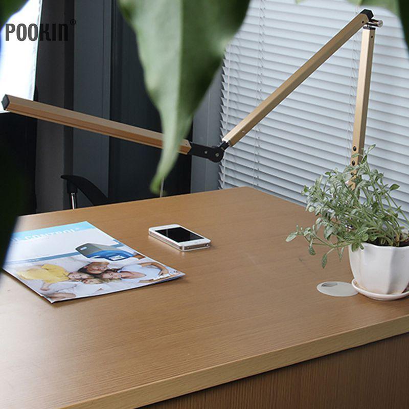 Long Arm Desk Lamp Clip Office Led Desk Lamp Eye-protected Long Life Book Lamp For Bedroom Led Light 3-Level Brightness&Color