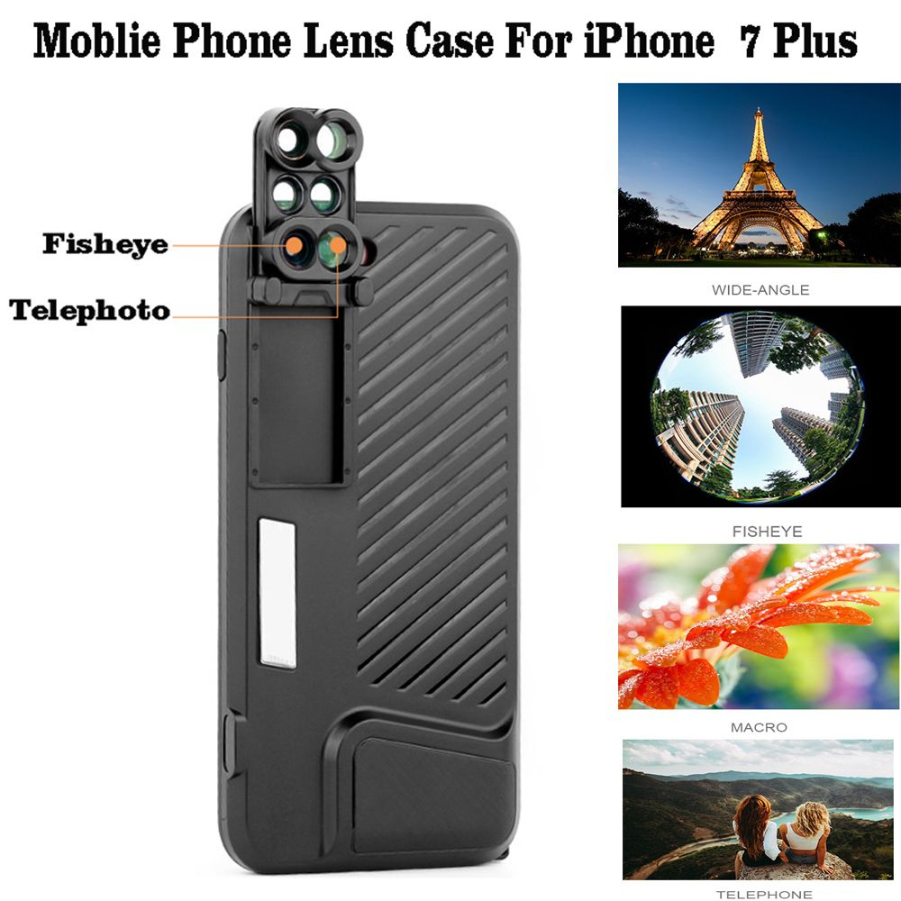 For Apple iPhone 8 Plus Phone Dual Camera Lens Camera Phone Lense with Protection Case For Apple iPhone 7 Plus