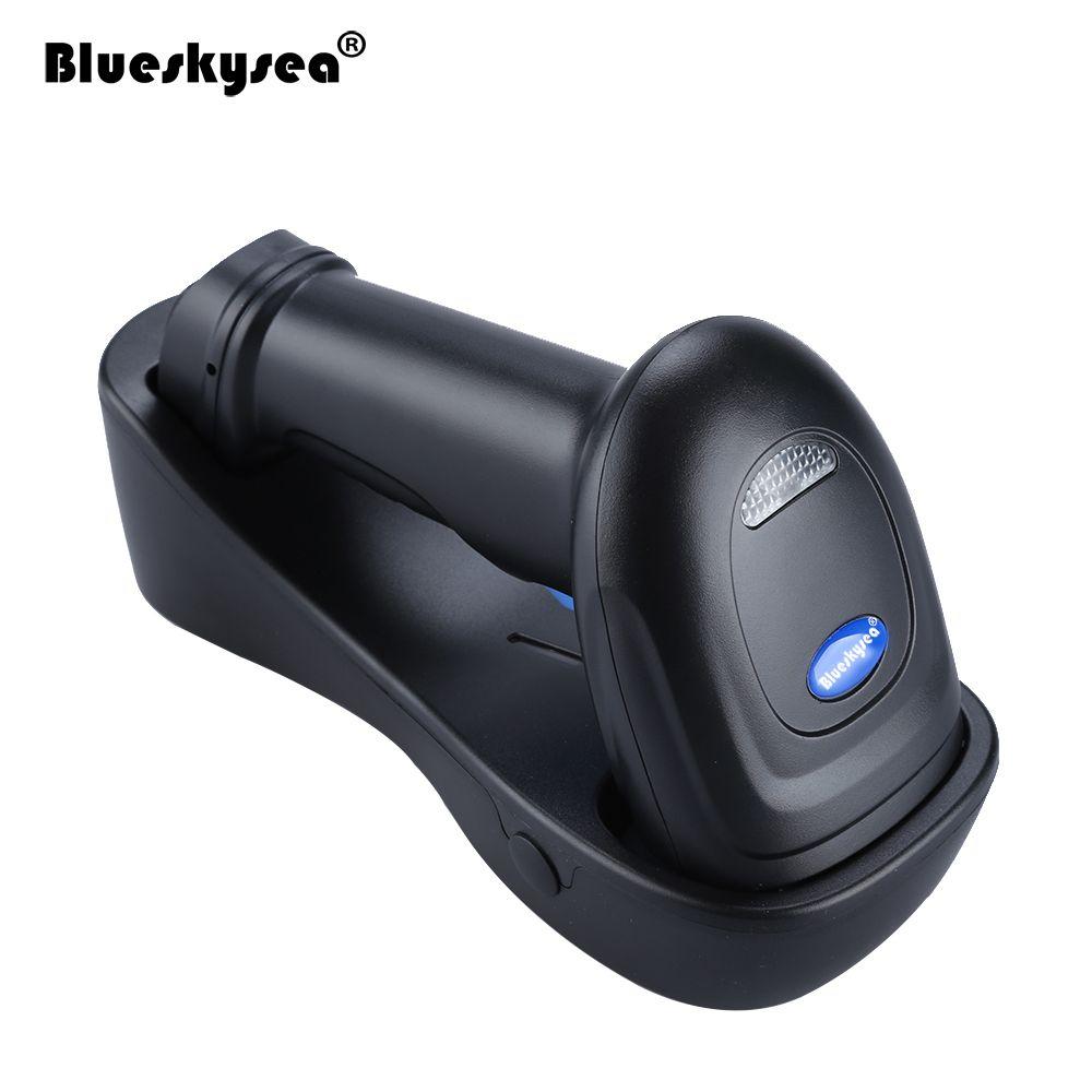 Blueskysea YK-WM3L 433MHz PDF417 DataMatrix QR Code Reader 2D High Speed Wireless 1D 2D Barcode Scanner For Windows Mac IOS