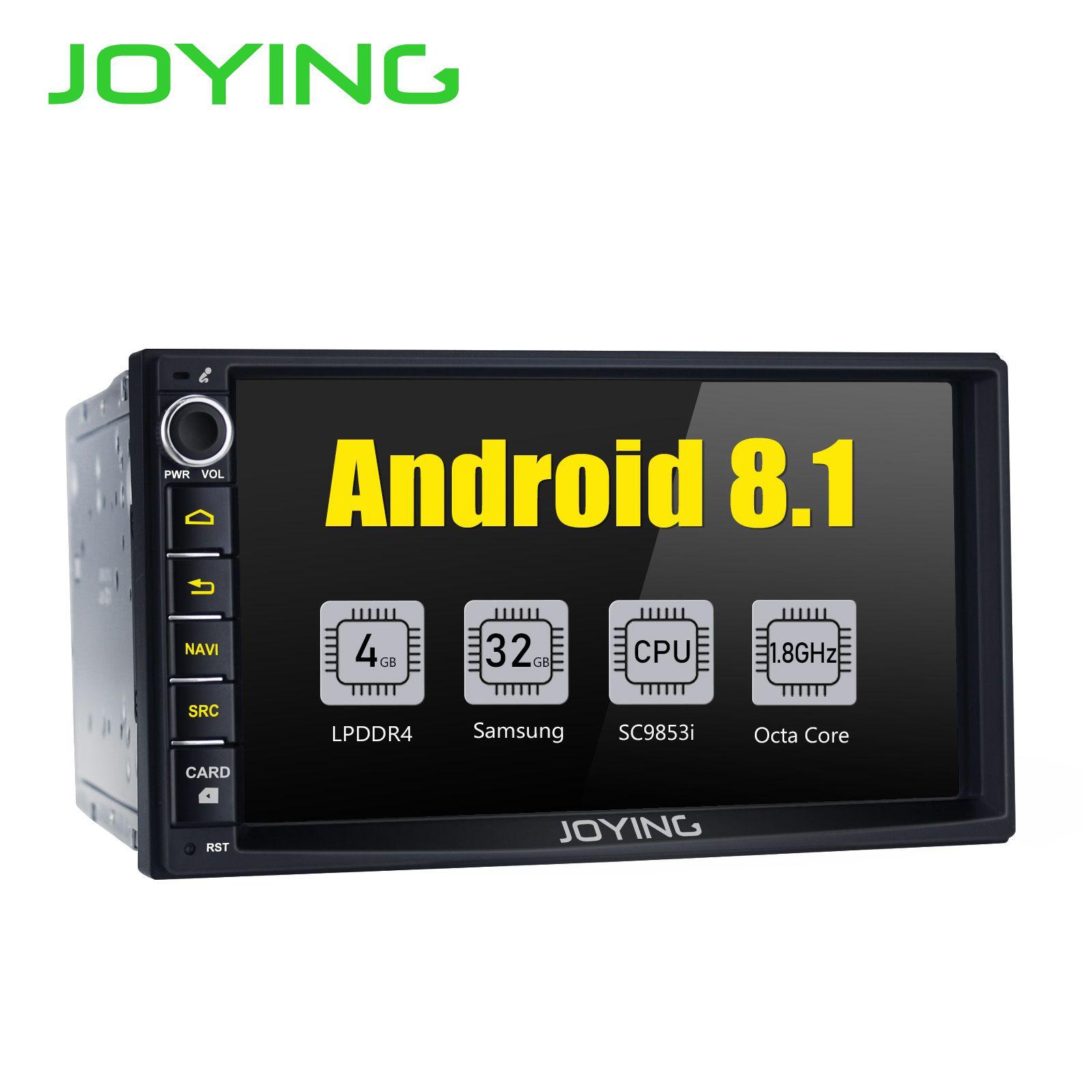 JOYING Neueste 2 Din 7 ''Android 8.1 Auto autoradio HD kopf einheit GPS stereo Radio mit Intel Octa core 4G Carplay Android auto DSP