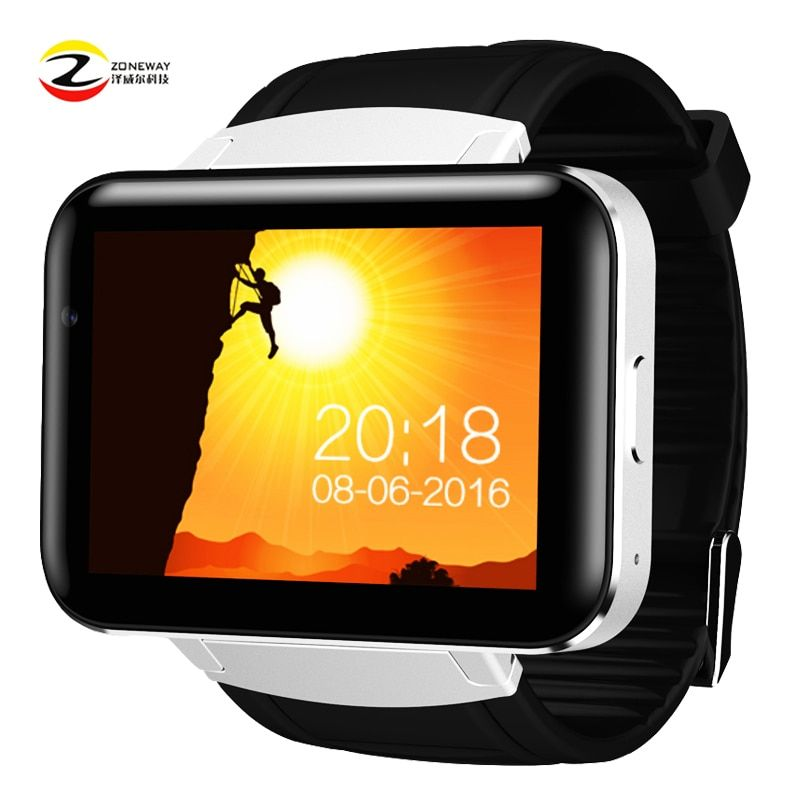DM98 Smart watch MTK6572 Dual core 2.2 inch HD IPS LCD Screen 900mAh Battery 512MB Ram 4GB Rom Android 4.4 OS 3G WCDMA GPS WIFI
