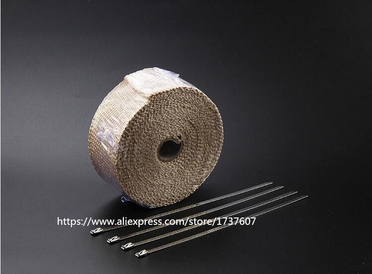 10M  Exhaust Pipe Header Heat Wrap Resistant Downpipe  / Exhaust Header Pipe Wrap Heat Manifold Insulation Cloth Roll