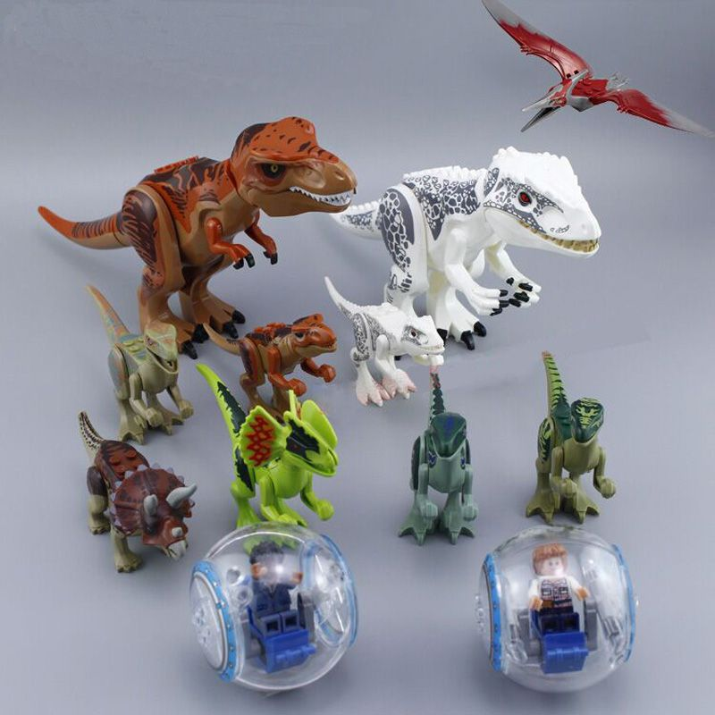 79151 77001 Jurassic World 2 Dinosaur Tyrannosaurus Building Blocks Dinosaur Action Figure Bricks Legoings Dinosaur Toys Gift
