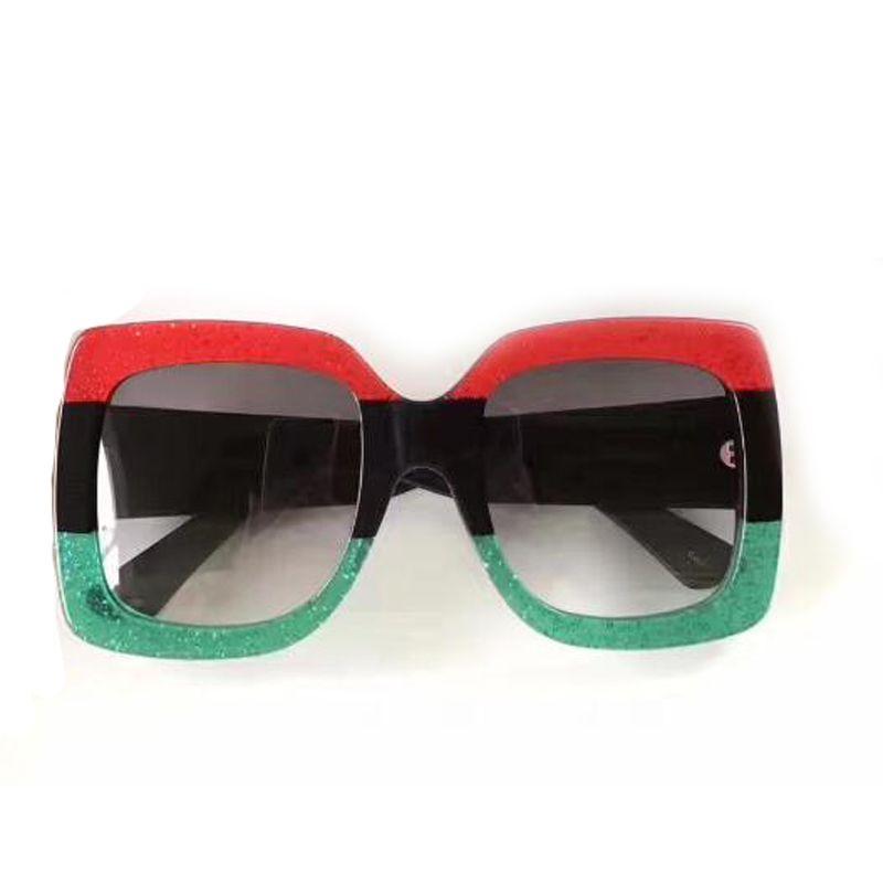 2608-2624 Square Big Frame Sunglasses Women Three Colors Hot Steampunk Sun Glasses Oculos Feminino Vintage Fashion Sun Glasses