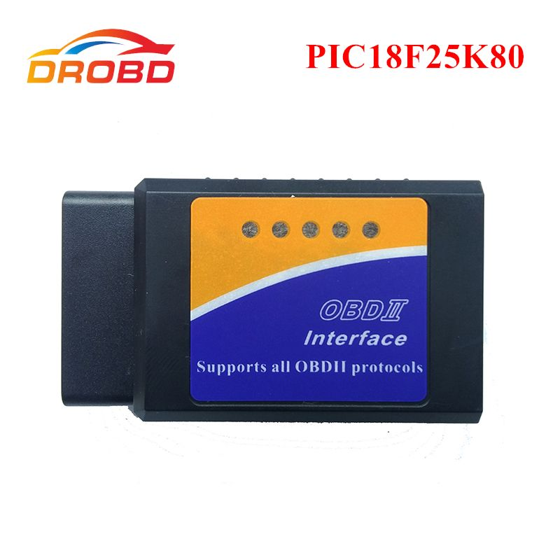 OBD2 ELM327 V1.5 Support all AT command PIC18F25K80 Chip Diagnostic-tool Mini ELM327 V 1.5 Bluetooth 3.0 for Android Code Reader