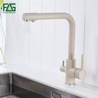 FLG 100% латунь мраморная живопись поворотный кран питьевой воды 3 способа фильтр для воды очиститель Кухонные смесители для раковин краны 242-33 ...