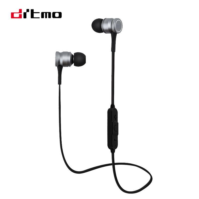 Drtmo Magnetic Attraction Bluetooth Earphone Wireless In-Ear Stereo Earphones For Sport Mobile Phone