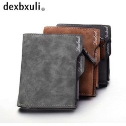 ¡Hombres cartera billetera de cuero suave con ranuras para tarjetas extraíbles multifunción hombres cartera monedero masculino calidad superior!