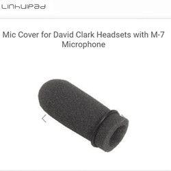 Linhuipad 4pcs Foam windscreen mic windshields quality foam cover suit for David Clark M-7 headset microphones