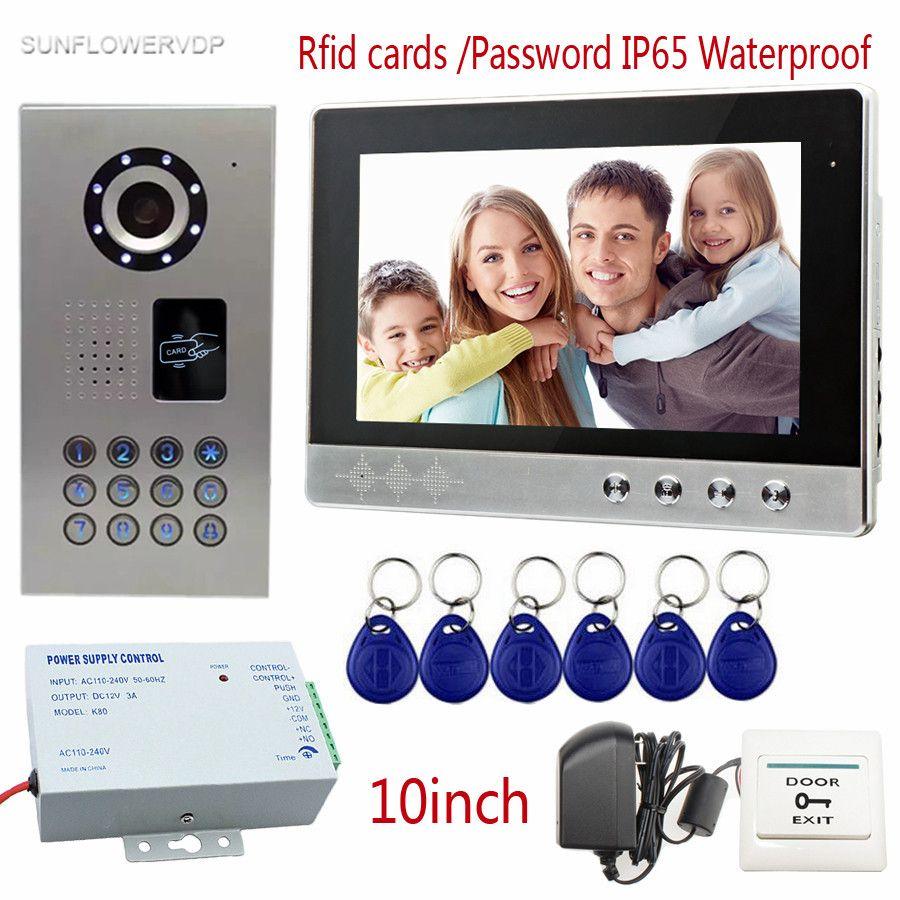 SUNFLOWERVDP Rfid Home Video Door Phone IP65 Waterproof Video Doorman Color 10