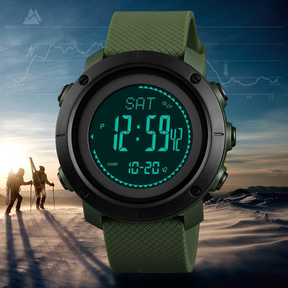 SKMEI altimètre baromètre thermomètre Altitude hommes montres numériques horloge sport escalade randonnée Montre-bracelet Montre Homme 1418