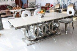 Table à manger en marbre et chaise Pas Cher moderne à manger tables 8 chaises